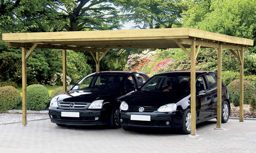 Carport autoabstellplatz aus holz lagerhaus for Preis carport