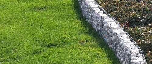 Abgrenzung Der Rasenfl 228 Che Mit Einer Rasenkante Lagerhaus