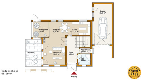 ideen f r den hausbau cleverhaus referenzhaus 115 cleverhaus. Black Bedroom Furniture Sets. Home Design Ideas