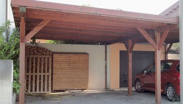 carport platz f r ger teschuppen fahrradst nder oder. Black Bedroom Furniture Sets. Home Design Ideas