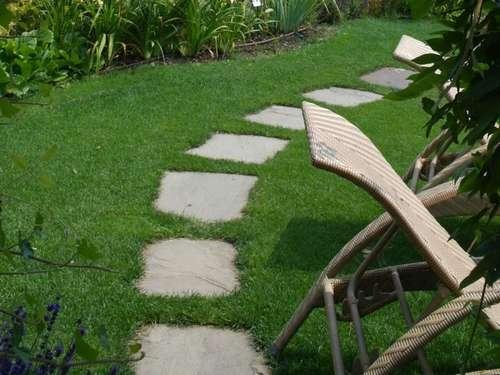Trittsteine Garten gehwege im garten mit natursteine verlegen lagerhaus