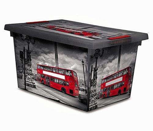 Jugendstil Gartenmobel Set : PlastikRollenbox, mit Deckel, 45 l  Lagerhaus