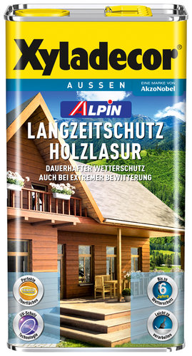 xyladecor alpin langzeitschutz holzlasur palisander 5 l bau gartenmarkt lagerhaus. Black Bedroom Furniture Sets. Home Design Ideas