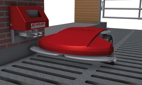 entmistungsroboter f r den rinderstall lagerhaus. Black Bedroom Furniture Sets. Home Design Ideas