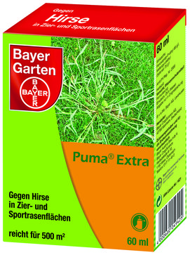 bayer garten puma extra hirsefrei im rasen bau gartenmarkt lagerhaus sortiment. Black Bedroom Furniture Sets. Home Design Ideas